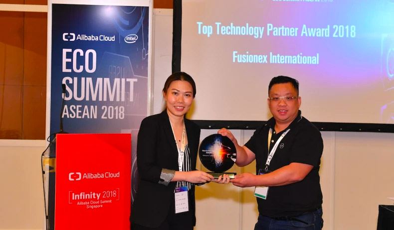 Fusionex Wins Alibaba Cloud Top Technology Partner Award for 2018