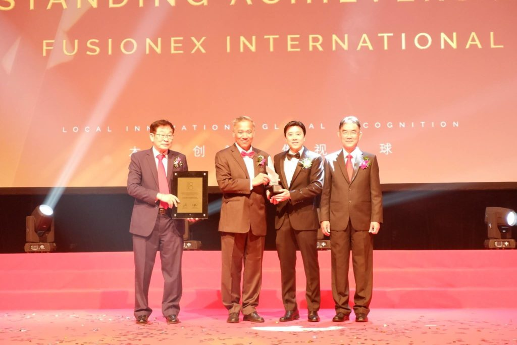 Fusionex Honored with Outstanding Achievement Award at PBA 2018