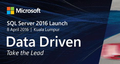Microsoft SQL Server 2016 Launch Event