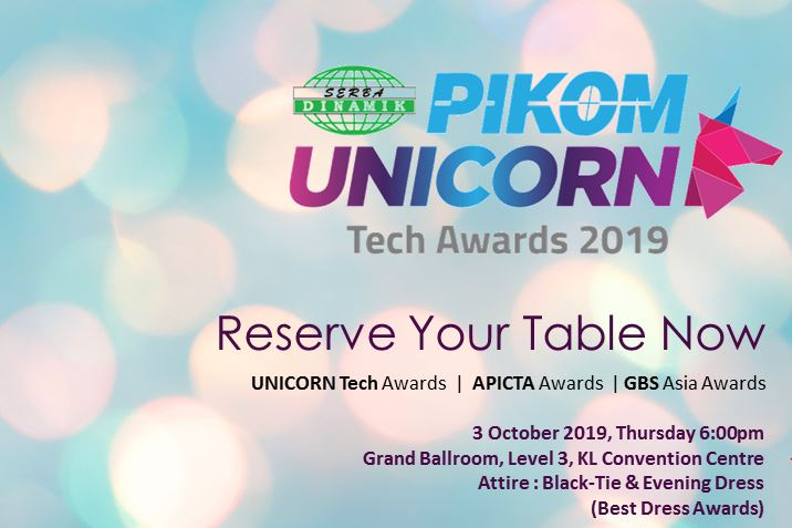 PIKOM Unicorn Tech Award Night 2019