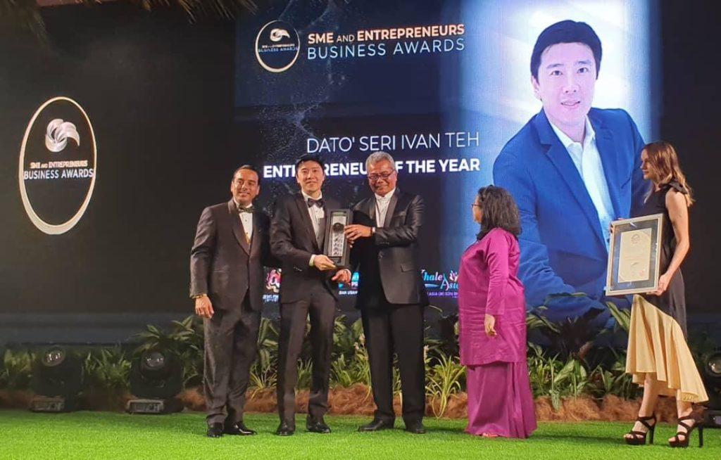 Dato' Seri Ivan Teh Named Entrepreneur of the Year at the SME & Entrepreneurship Business Awards 2019